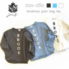ロゴプリント コットン100%ロンT キッズ ジュニア 子供服 トップス 長袖 Tシャツ 女の子 男の子 ユニセックス ナチュラル シンプル
