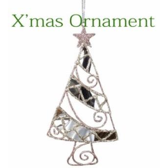 クリスマスオーナメント クリスマス装飾 ツリー飾り クリスマスグリッターオーナメント ツリー CHRISTMAS XMAS