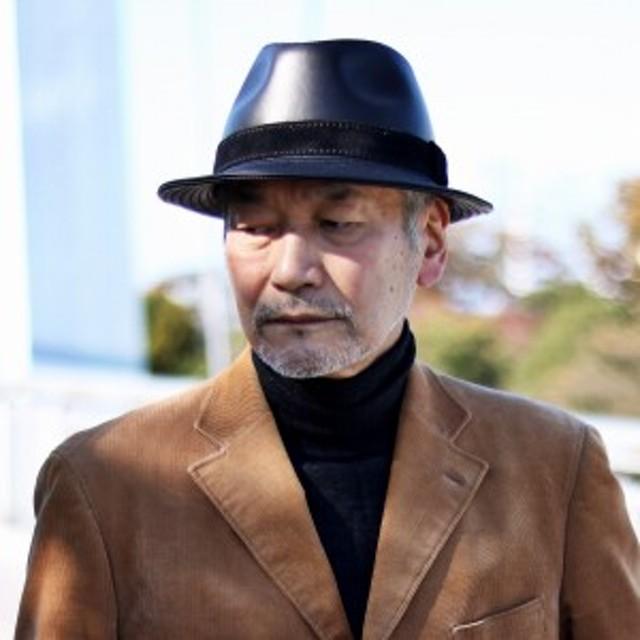 帽子 メンズ ハット レザー 中折れハット KASZKIET カシュケット イタリアンレザー 高級 黒 ブラック