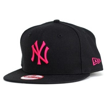 NEWERA ニューエラ new era 9FIFTY ニューヨーク・ヤンキース ブラック×ストロベリー