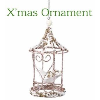 クリスマスオーナメント クリスマス装飾 ツリー飾り クリスマスグリッターオーナメント バード CHRISTMAS XMAS 飾り 装飾