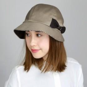 DAKS ダックス キャスクロッシェ 帽子 レディース リボン 上品 婦人 秋 冬 日本製 ベージュ