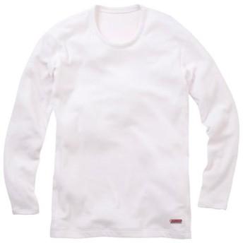 MIZUNO SHOP [ミズノ公式オンラインショップ] ブレスサーモ【ヘビーウエイト】クルーネック長袖シャツ[メンズ] 01 ホワイト A2JA5514