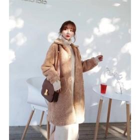 2018秋冬新作/韓国ファッション/気質/秋冬物/大人気/子羊の毛/コート/防寒/暖かい