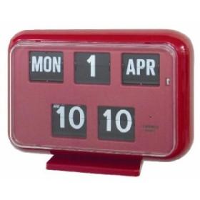 TWEMCOカレンダー置き掛け兼用時計 QD-35 RED