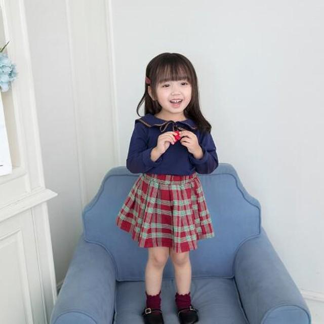 82b6f1be0d99c 子供服 入学式 スーツ 女の子 シャツ スカート 2点セット チェック柄 フォーマル キッズ 受験