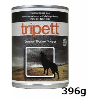 PetKind Tripett グリーンバイソントライプ 396g 缶 犬用