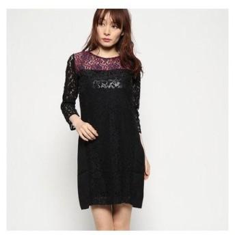 デシグアル Desigual ドレス長袖 (Grey/Black)