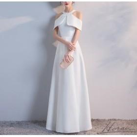 ドレス パーティードレス ロング ロングドレス 演奏会 Aライン ワンピース 大きいサイズ 体型カバー オフショルダー ケープ風 パーティ