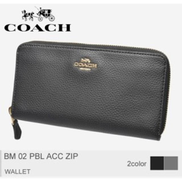 71031d87beae 【メール便可】コーチ 長財布 レディース 財布 ラウンドファスナー BM 02 PBL ACC