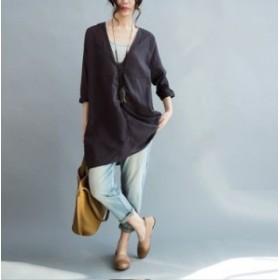 レディース 七分袖 ブラウス シャツ トップス 日焼け止め服 ゆったり感 2018新品 韓国ファッション 人気 上質 296