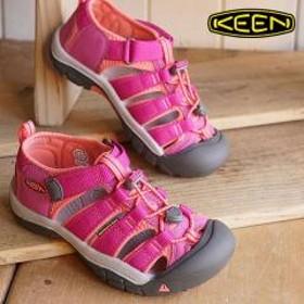 送料無料 KEEN キーン キッズ ユース サンダル 靴 Newport H2 YOUTH ニューポート エイチツー Very Berry/Fusion Coral (1014267)