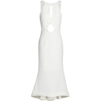 《9/20まで! 限定セール開催中》NICHOLAS レディース 7分丈ワンピース・ドレス ホワイト 6 ポリエステル 100%