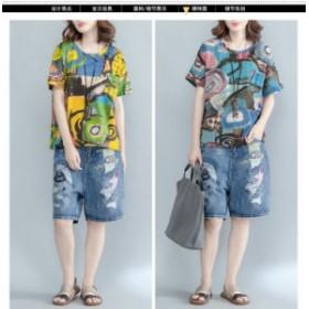 レディース 半袖 Tシャツ トップス 大きいサイズ ゆったり感 2018 新品 韓国ファッション 人気 上質 156