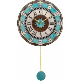 振り子時計 アントニオ・ザッカレラ 陶器 ZC135-004 送料無料 掛け時計 お洒落 ギフト