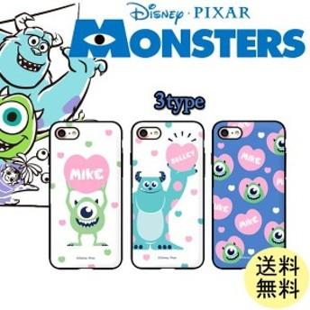 モンスターズ・インク マイク サリー iPhoneX/XS iPhone8/iPhone7 鏡 ミラー グッズ カード収納 00204