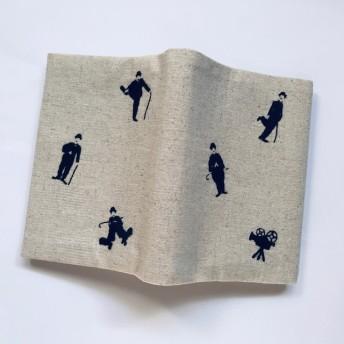 刺繍 ブックカバー チャップリンの撮影