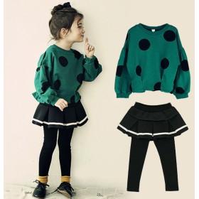 女の子プラスベルベットスーツ冬大韓民国の子供たちは大きなプラスベルベットのパッド付きセータースカート2セットのズボン