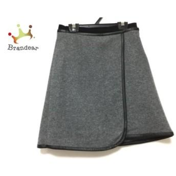 カルヴェン CARVEN スカート サイズS レディース 美品 グレー×黒 スペシャル特価 20190906