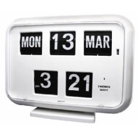 TWEMCOカレンダー置き掛け兼用時計 QD-35 WHITE