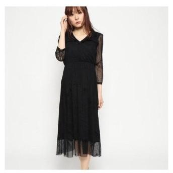 デシグアル Desigual ニットドレス3/4袖 (Grey/Black)