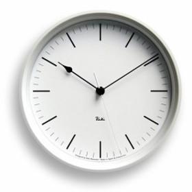 Lemnosレムノス電波掛け時計 Riki STEEL CLOCKホワイト WR08-24WHφ204