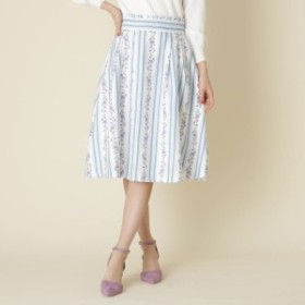 クチュールブローチ(Couture Brooch)/【WEB限定サイズ(S・LL)あり】フラワーストライプスカート