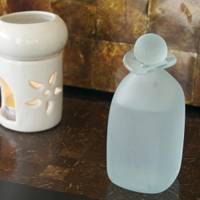 z140301b バリの手作りガラスボトル 中身が見えにくすりガラス アメニティグッズ  アンティーク調 バリのアジアン雑貨 スパ アロマ 瓶