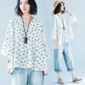 レディース 7分丈袖 Tシャツ トップス 大きいサイズ ゆったり感 2018 新品 韓国ファッション 人気 上質 157