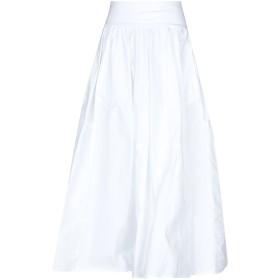 《9/20まで! 限定セール開催中》BOMBOOGIE レディース 7分丈スカート ホワイト S レーヨン 100% / コットン