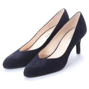 アンタイトル シューズ UNTITLED shoes パンプス (ダークネイビースエード)