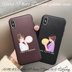 iphoneケース iphoneXs max xr x 8 8plus 7 6s 6plus スマホ ケース アイフォンケース ソフト レトロ マット 大人可愛い 韓国 上品 かわいい ポップ