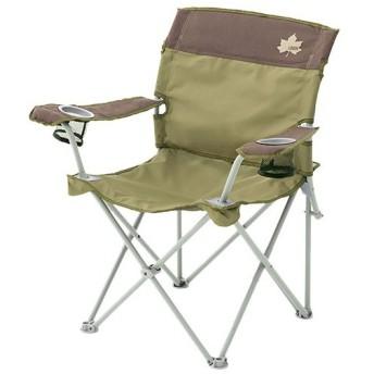 ロゴス(LOGOS) アウトドア Life バックサポートチェア ブラウン 73173071 キャンプ ディレクターチェア イス 椅子 バーベキュー