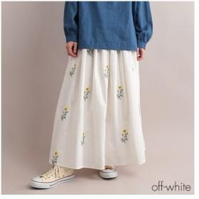 [マルイ]【セール】ボタニカル刺繍ギャザーロングスカート/フィリル(fillil)