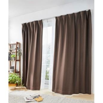ブロック柄遮光カーテン&レースセット カーテン&レースセット, Curtains, sheer curtains, net curtains(ニッセン、nissen)