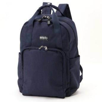 バッグ カバン 鞄 レディース リュック 微光沢杢調リュック カラー 「ネイビー」