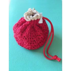 手編みレース 巾着