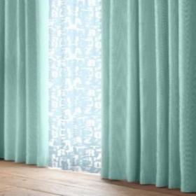 ユニベール 4マイクミカーテン4PロゴBL 100x200cm 4枚組 ブルー 幅100高200cm