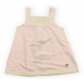 b23fbcd8eadf3 ミキハウス mikiHOUSE ベビーベスト 50サイズ 女の子 USED子供服 ...