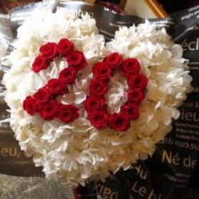 数字 花 ハート プリザーブドフラワー あなたのご希望の数字(2ケタ)お作り致します ◆誕生日プレゼント・記念日の贈り物におすす