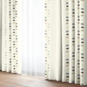 ユニベール カーテンブルックIV 100x135cm 2枚組 アイボリー 幅100高135cm