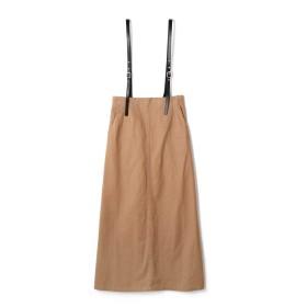 ローズバッド ROSE BUD サスペンダー付きスカート ベージュ 【税込10,800円以上購入で送料無料】