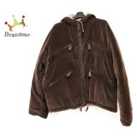 ジョルジオアルマーニ ダウンジャケット サイズ50 M メンズ ダークブラウン コーデュロイ/冬物        値下げ 20191010