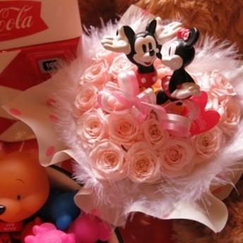ディズニー 誕生日プレゼント ハート フラワーギフト ミッキー ミニー ノーマル クリアーケース付き ハート プリザーブドフラワー