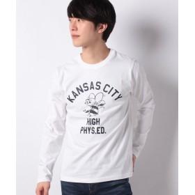 マルカワ カレッジ プリント 長袖Tシャツ メンズ 柄1 XL 【MARUKAWA】
