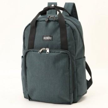 バッグ カバン 鞄 レディース リュック 微光沢杢調リュック カラー 「ダークグリーン」