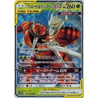 ポケモンカードゲーム サン&ムーン 001/054 フェローチェ&マッシブーンGX (RR) フルメタルウォール