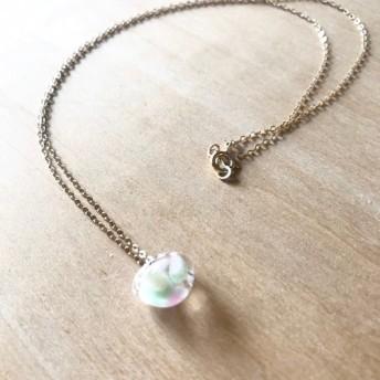 14kgf☆teardrop beads necklace