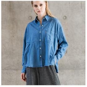 【70%OFF】 リーバイス デニムシャツ LIGHT MID WASH レディース BLUES XS- 【Levi's】 【セール開催中】