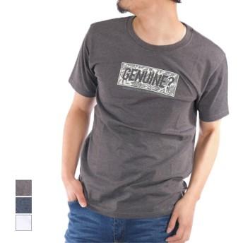 Tシャツ - Style Block MEN Tシャツ カットソー 半袖 クルーネック 丸首 ボックスロゴ プリント 綿 コットン100% トップス メンズ 杢チャコール杢ネイビー ホワイト 春先行